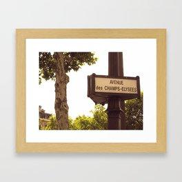 Avenue des  Champs-Elysees Framed Art Print