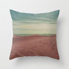 Pink dunes of Maspalomas Throw Pillow