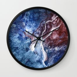 Resuscitation by Nadia J Art Wall Clock