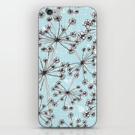 Contemporary Cow Parsley  iPhone Skin