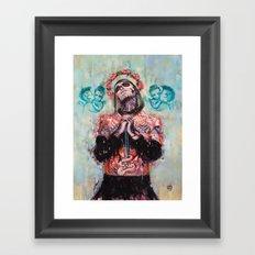 Portrait of Rick Genest aka Zombie Boy Framed Art Print