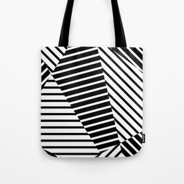 Abstract Striped Triangles Tote Bag