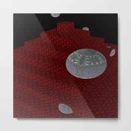 Bleeding Leopard Steps 6 Metal Print