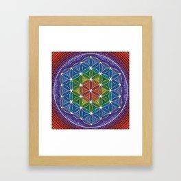 Rainbow Happy Flower of Life Framed Art Print