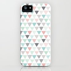 Geometric pastel triangle scandinavian style aztec print iPhone SE Slim Case