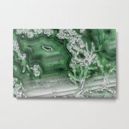 Green agate 1 Metal Print