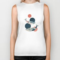polka Biker Tanks featuring Whales and Polka Dots by Paula Belle Flores