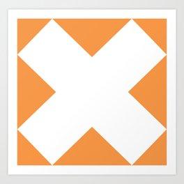 X WHITE Art Print