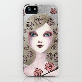 Rose girl iPhone Case