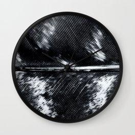 Black and White Feather | Feathers | Spiritual | Nadia Bonello | Canada Wall Clock