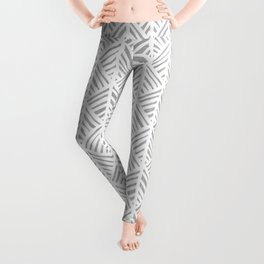 Abstract Leaf Pattern in Gray Leggings