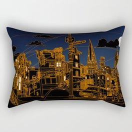 San Francisco! (Night, landscape version) Rectangular Pillow