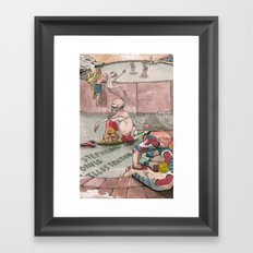 Bath House 1 Framed Art Print