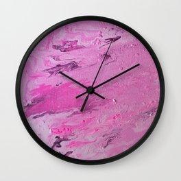 Pink Abstract Wall Clock