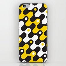 Yellow & black waves iPhone & iPod Skin