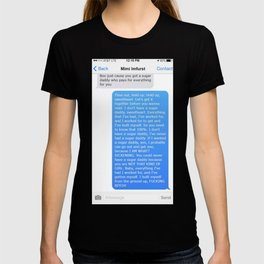SHANGELA SUGAR DADDY TEXT T-shirt