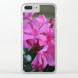 Pink Oleander Bunch Clear iPhone Case