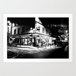 Café le Nazir (Montmartre; Paris) Art Print