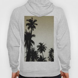 Tropical palm trees on yellow Hoody