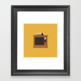 Retro TV and Console Framed Art Print