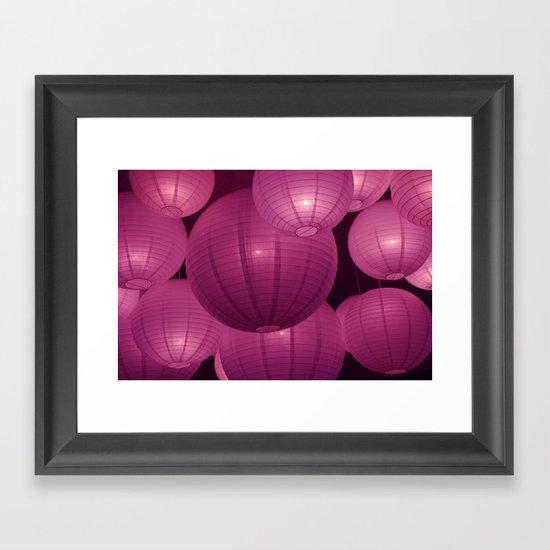 Bubble lights Framed Art Print