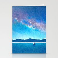 northern lights Stationery Cards featuring Northern Lights by Acacia Alaska