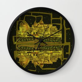 Space Colonization Wall Clock
