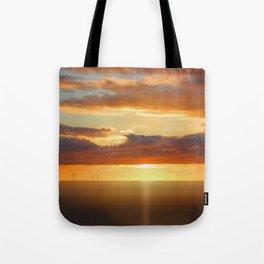 Irish Sea - Heavy Skys (Digital Art) Tote Bag