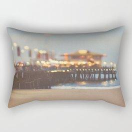 Beach Candy. Santa Monica pier photograph Rectangular Pillow