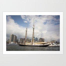 Boston Harbor History Art Print