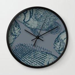 Retro vintage fish Wall Clock