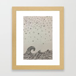 the sea and the stars Framed Art Print