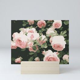 Graphic Pink Roses Mini Art Print