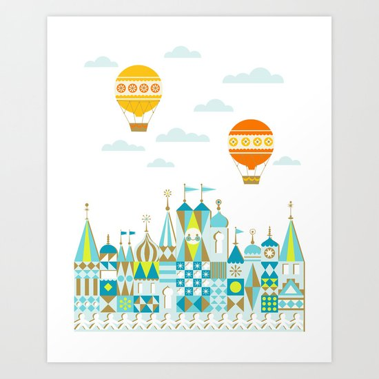 Small Magic white Art Print