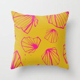 Happy colorfull chalices pink print Throw Pillow