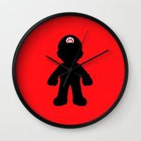mario Wall Clocks featuring Mario by Jessica Wray