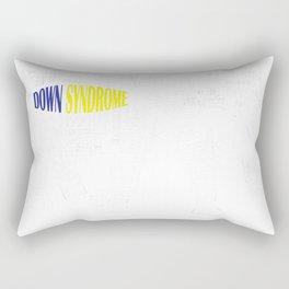 Down Syndrome Awareness Word Art Elephant T-Shirt Rectangular Pillow