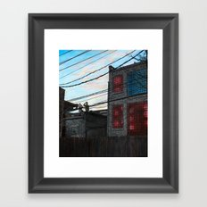 Chalkin' Framed Art Print