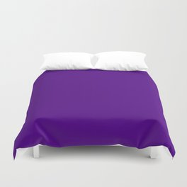 Solid Bright Purple Indigo Color Duvet Cover