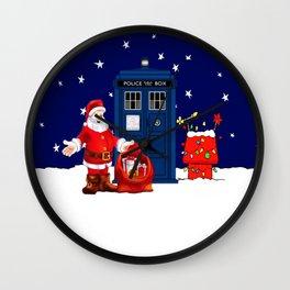 Tardis Santa Christmas Wall Clock