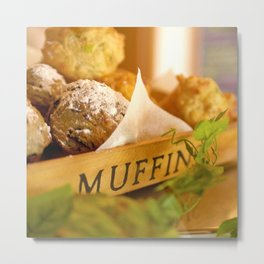 Muffins, fresh and warm, thanks Mom! Metal Print