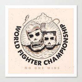 World Fighter Championship Canvas Print