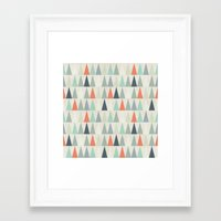 triangles Framed Art Prints featuring Triangles by Dizzy Moments