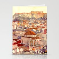 takmaj Stationery Cards featuring Athens by takmaj