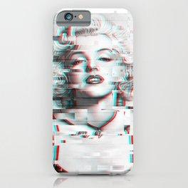 Marylin Monroe Glitch Effect iPhone Case