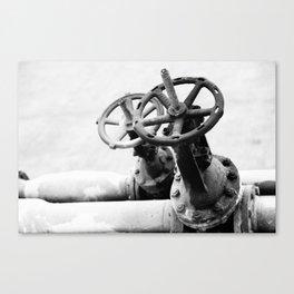Pipeline valves Canvas Print