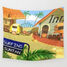 Costa Del Sol Surfing Suntan Wall Tapestry