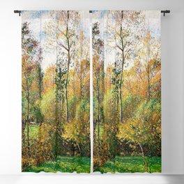 12,000pixel-500dpi - Camille Pissarro - Automne, Peupliers, Eragny - Digital Remastered Edition Blackout Curtain
