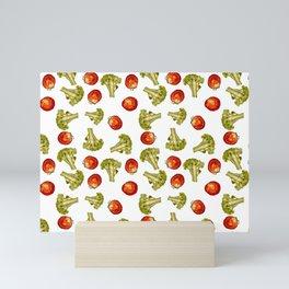 Broccoli and tomato Mini Art Print