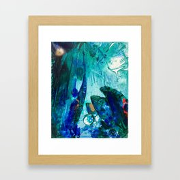 Bright Ocean Spaces, Tiny World Collection Framed Art Print
